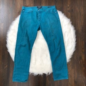 Lucky Brand - 121 Heritage Slim Fit Jeans Teal